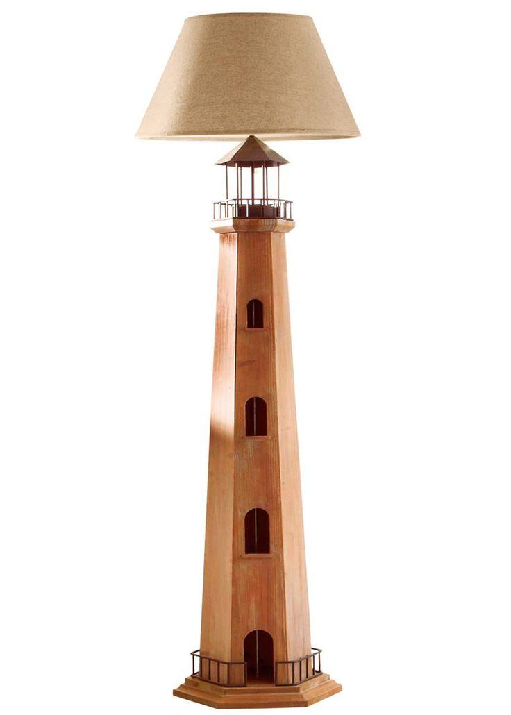 Jetzt anschauen: Eine Brise Küste für zu Hause. Diese besondere Stehleuchte ist sehr dekorativ und verleiht jedem Raum einen ganz individuellen Touch. Aus Holz gefertigt. Leuchtmittel E27/max. 60W (nicht inkl.). Maße: Fuß ca. 38,5cm Ø, Schirm ca. 50cm Ø, ca. 167cm hoch.  Interlogistik - Diese Leuchte ist geeignet für Leuchtmittel der Energieklassen A + + bis E (EU Richtlinie 874/2012).