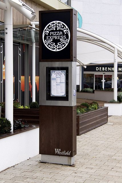 Westfield Merry Hill Eat Central Pizza Exspress Totem Signage - Hollywood Monster   Flickr - Photo Sharing!