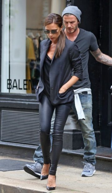 Victoria Beckham, love the sophistication of black on black.