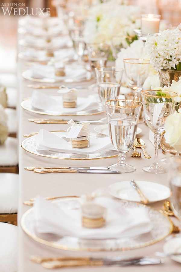 WedLuxe– A Classic Gold and Ivory Wedding With Touches of Spring | Photography by: Crimson Photos Follow @WedLuxe for more wedding inspiration!