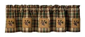 Thank you. You will receive a $1 off coupon during checkout. Scotch Pine Lined Rustic Valances for Cabin Or Lodge