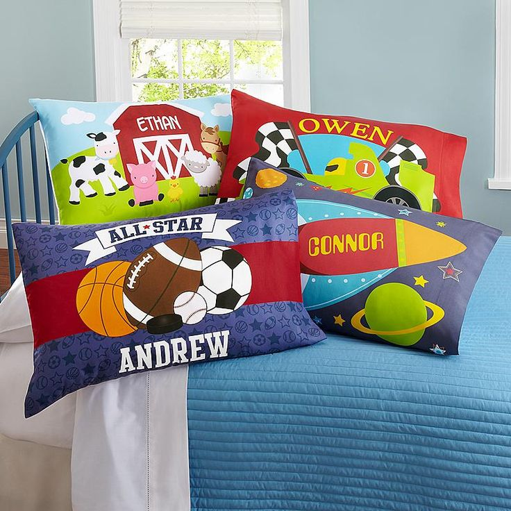 Boys' SleepyTime Pillowcase Personalised 1st birthday