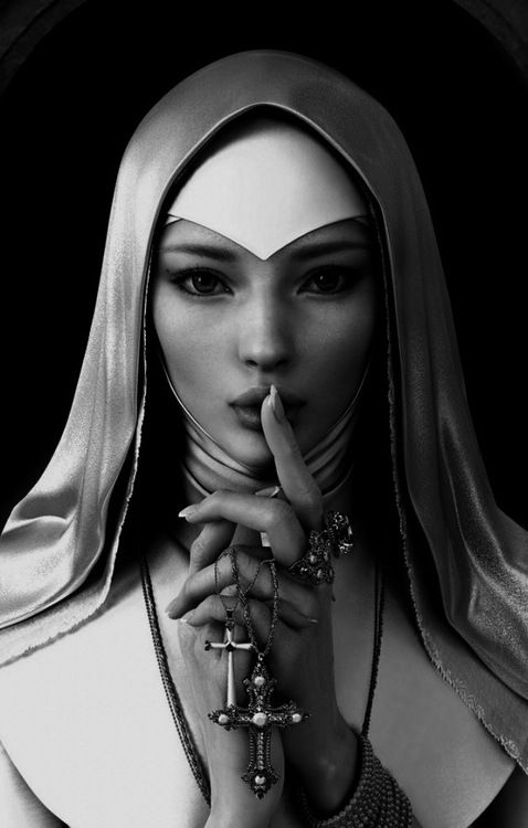 Beauty Nun by Yujin Kim - CG Portfolio  Source: nothingpersonaluk