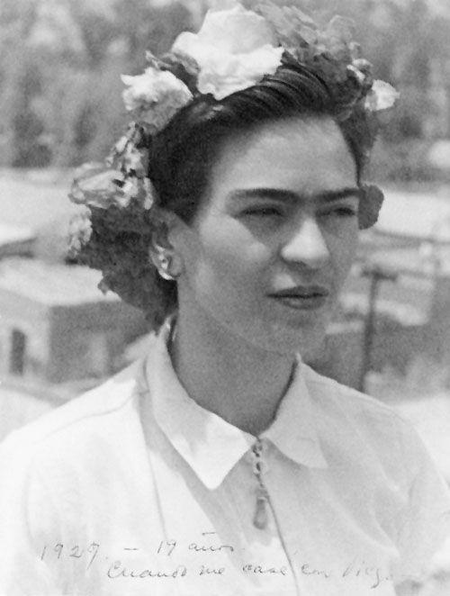 frida (1st) wedding day to diego rivera, age 19