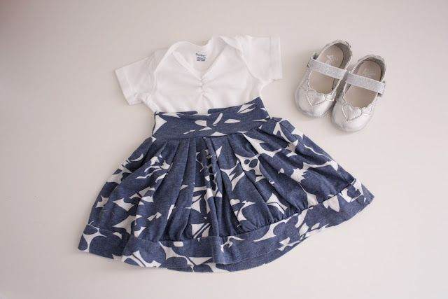 30 Days of DIY: Day 8 - Easy Baby Skirts, From T Shirts!