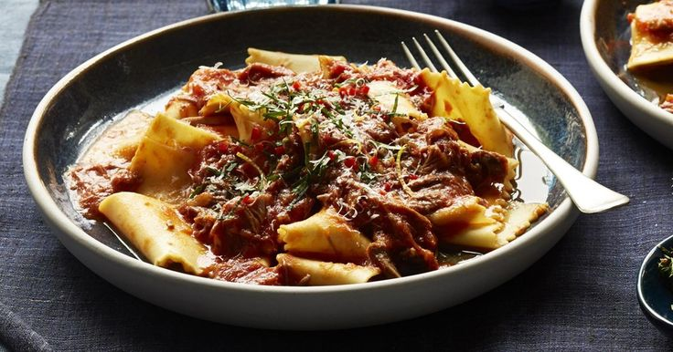 Let your pressure cooker do all the work with Curtis Stone's tender braised lamb ragu and chilli gremolata.