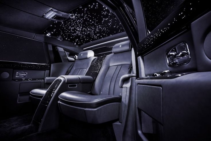 Rolls-Royce Bespoke Celestial Phantom - Check out its diamond studded interior!