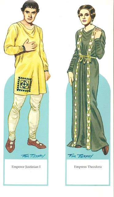 Byzantine Costumes Paper Dolls | Gabi's Paper Dolls