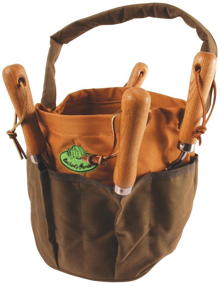 Esschert Design Canvas Round Tool Bag Will Hold All Your Necessary Hand  Tools For Gardening And Collect Your Trimmings Or Weeds As Well!