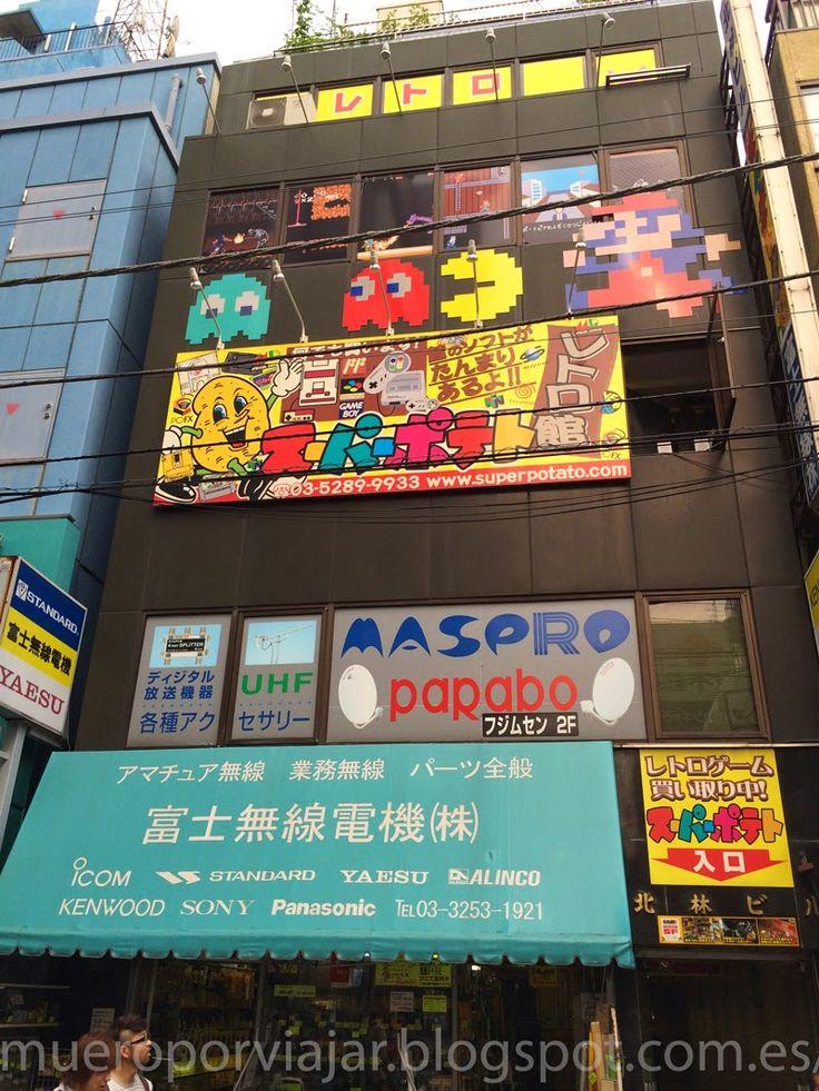 Famosa tienda de videojuegos retro Super Potato, en el barrio de Akihabara en Tokyo