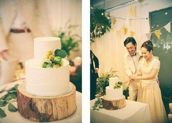 ウェディングケーキも、お二人のパーティのテーマに沿ってデザインされる特別なもの。おいしい思い出になりますね♪