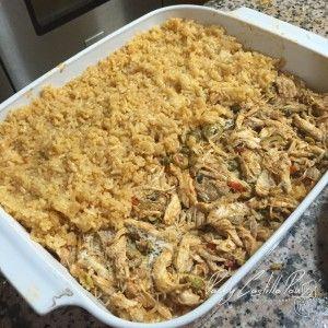 Pastelón de arroz con pollo guisado – Pachy Castillo Pou – Dominican Chef