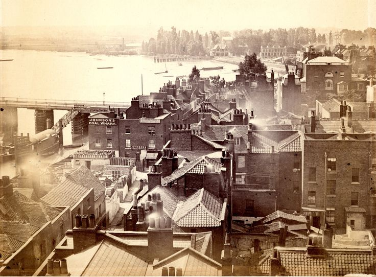 A view taken from the tower of Chelsea Old Church. 1860s | James Hedderly