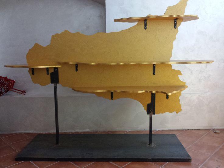 istallazione scultura  per negozio di prodotti tipici sicilini