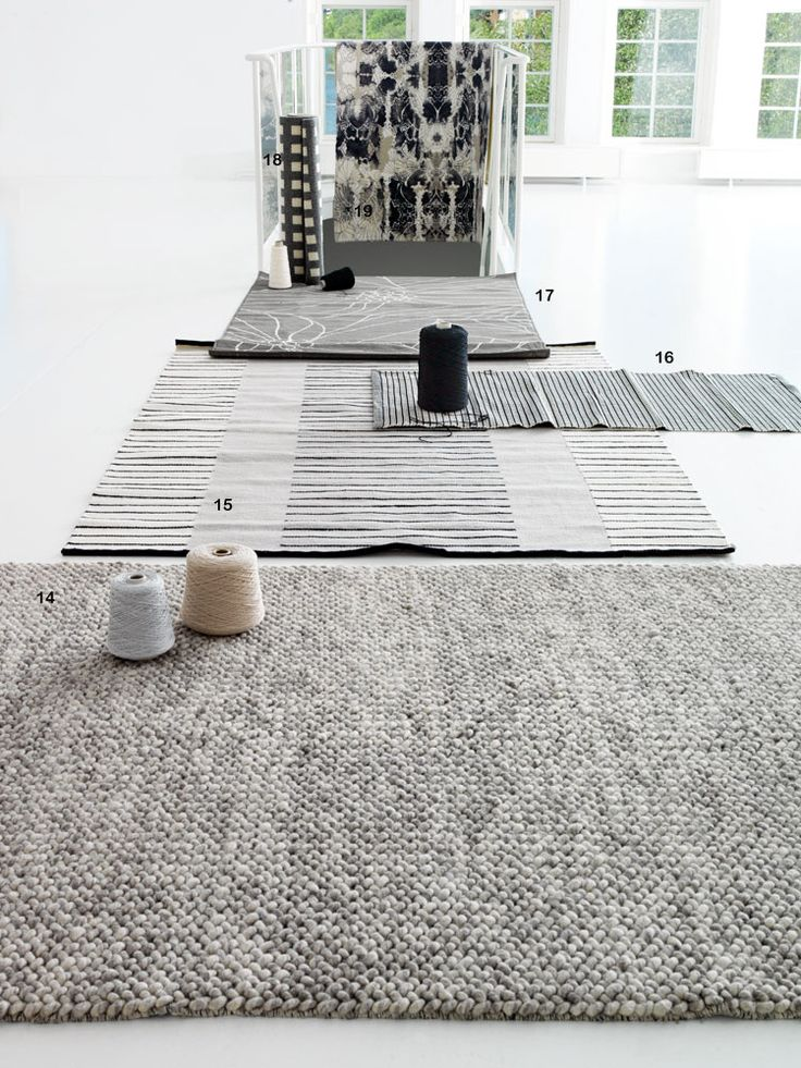 14. Kraftig handgjord matta Loop. Melerad grå, ull, 170 x 240 cm, Bolia http://www.bolia.com/de-de/sortiment/teppiche/22-006-04_109191