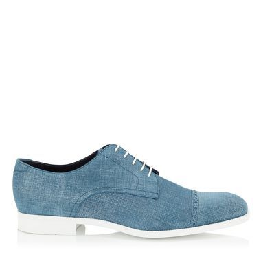 Jeans Denim Leather Lace Up Shoes