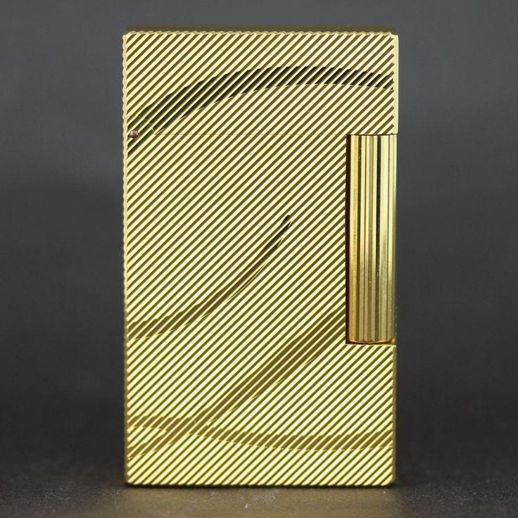 【中古】S.T.DuPont(デュポン) 016429 ライン2 イエローゴールド D GP ライター/ライン2は黄金比を基にデザインされており、その美しさには目を瞠る風情があります。/新品同様・極美品・美品の中古ブランドライターを格安で提供いたします。