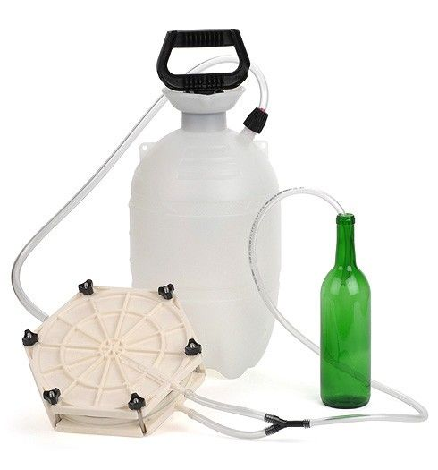 Pressurized Wine Filter - Manual filtration system, simply pump the handle to start. Perfect for filtering 5 or 10 gallons at a time. Filters any wine to a remarkable brilliance and beauty.   E. C. Kraus Home Winemaking Supplies
