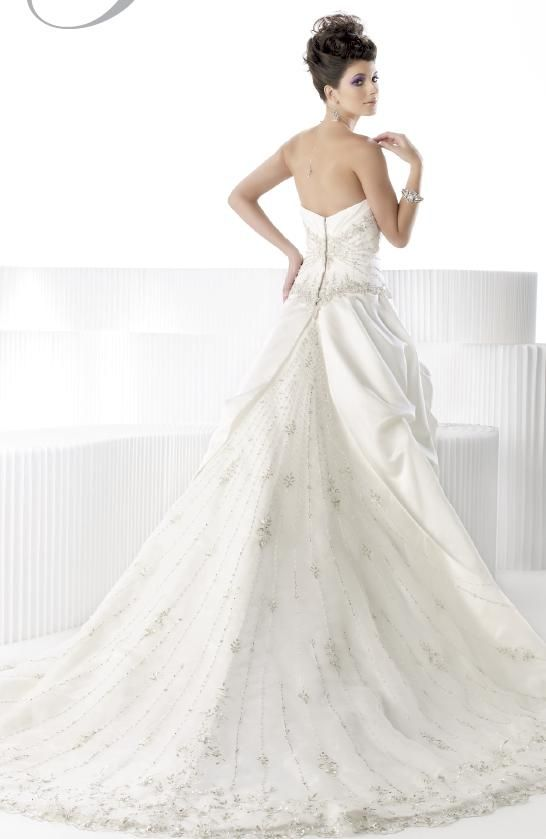 137 best wedding dresses images on pinterest wedding dressses ivory with silver beadied train fabulous wedding gown junglespirit Gallery