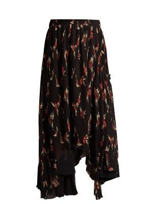 Click here to buy Isabel Marant Wilny floral-print pleated crepe skirt at MATCHESFASHION.COM