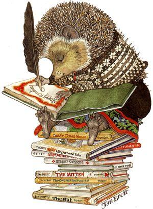 Jan Brett illustration of a hedgie! I love her books oh so much!