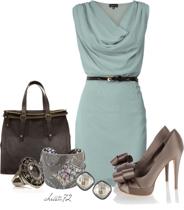 """""""Cowl Neck Dress"""" by christa72 ❤ liked on Polyvore"""