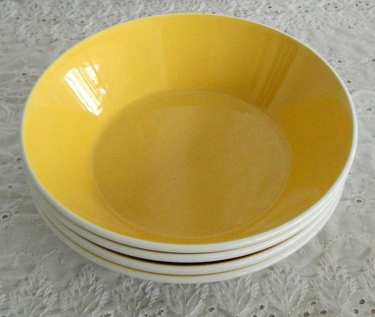 4 Vintage Unused Mikasa Duplex Trellis Ben Seibel D3326 Coupe Soup Cereal Bowls #Mikasa