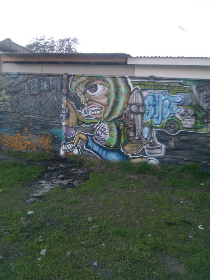 Mural en Avenida Central con Americo Vespucio, frente a la Municipalidad de Lo Espejo