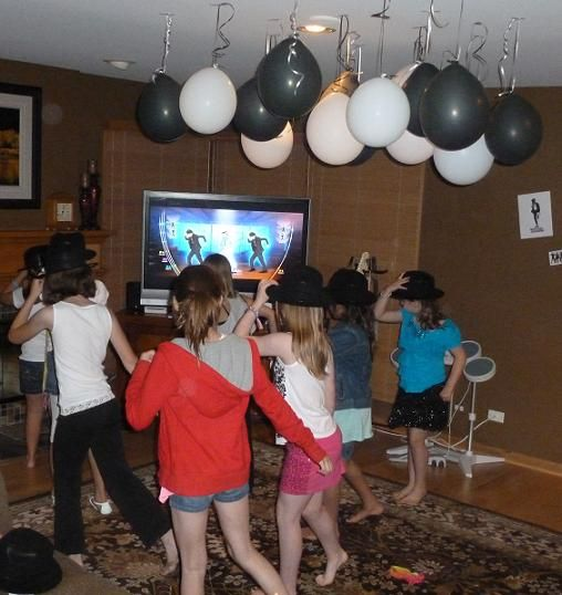 Michael Jackson birthday  balloons and dancing