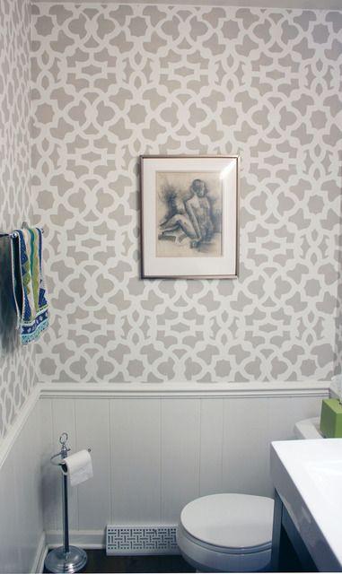 Grey & white bathroom (via Apartment Therapy)