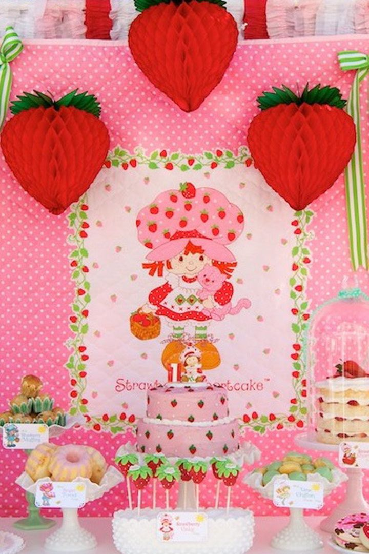 This Vintage Strawberry Shortcake Birthday Party Is Everything