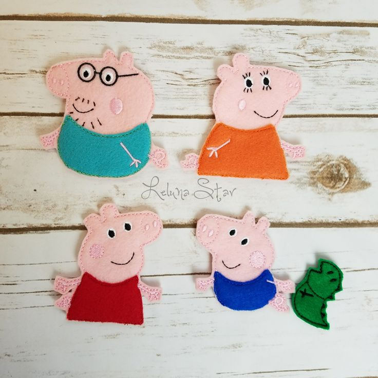 Finger Puppets - Pig Family