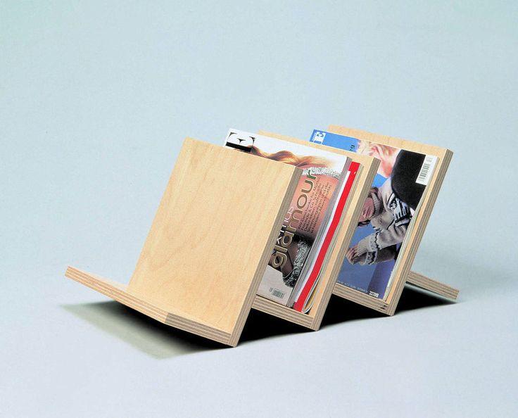 Zeitschriftenständer 3-fach aus Holz