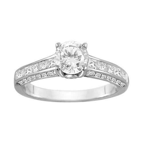 Amazing Canadian Diamond Engagement Ring in K White Gold