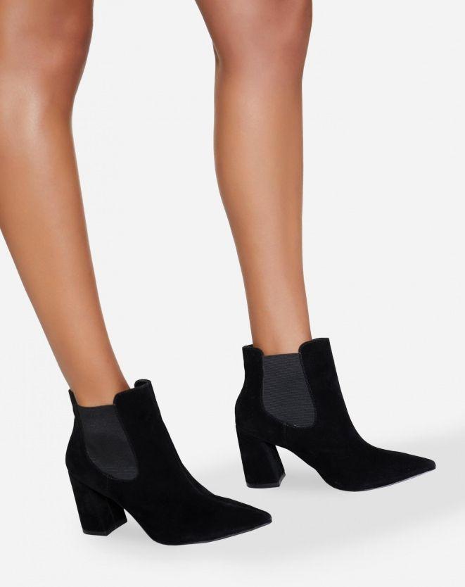 31dcd1a9d6 BOTA CHELSEA SALTO FLARE  Tendências Sapatos Femininos   Botas de Inverno
