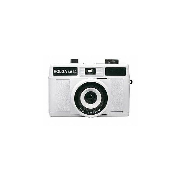 Holga 135BC Plastic 35mm Camera - (Bent Corners Version) - White |... ($46) ❤ liked on Polyvore featuring fillers, camera, accessories, white and electronics