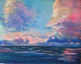 Learn to paint dramatic looking clouds in Watercolor