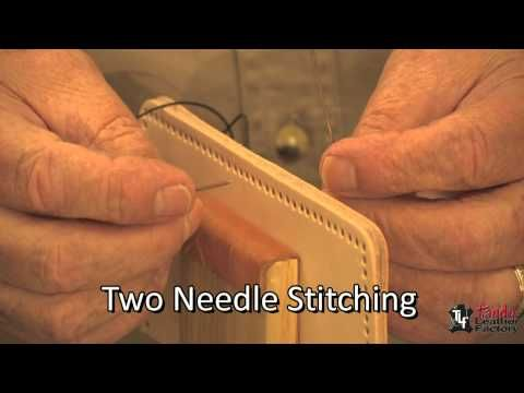 Hand Stitching leather craft video! I like this guy!