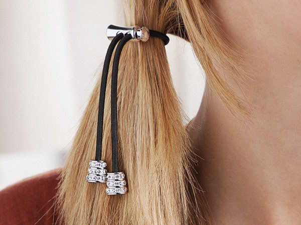 These ponytail accessories, discovered by The Grommet, are hair ties that feature a sliding system that gently tightens the elastic without twisting and tugging