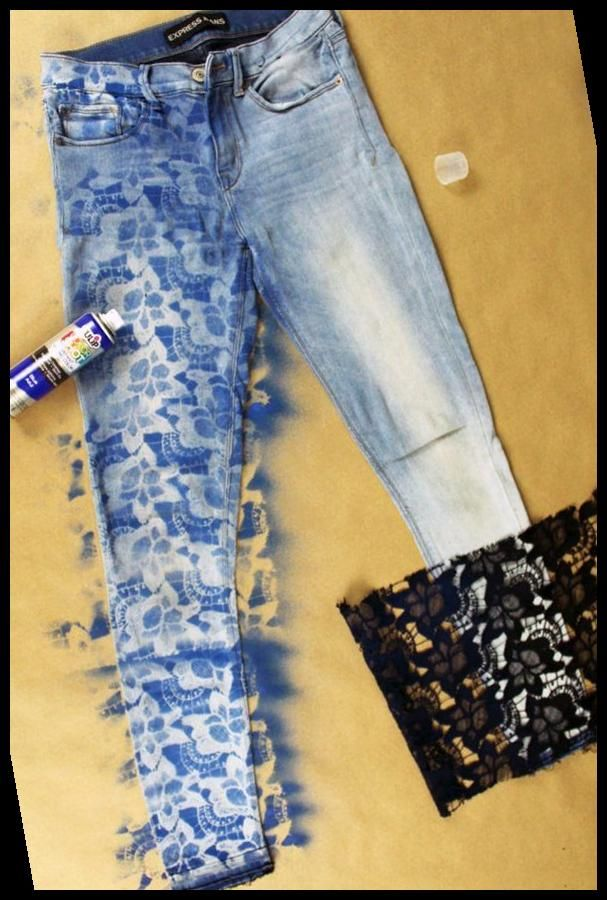 10 Minuten Diy Lace Denim Jeans Refashion Tutorial 34 Diy Fashion 2020 In 2020 Jeans Refashion Denim And Lace Upcycle Jeans