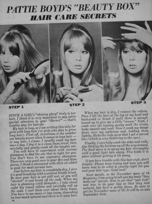 1960's hair tutorial from the 60's!