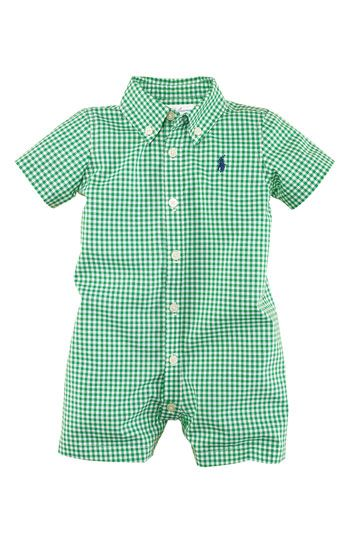 Ralph Lauren Gingham Romper (Infant) if I have a boy, this is the FIRST thing I'll buy. Cutest thing ever.