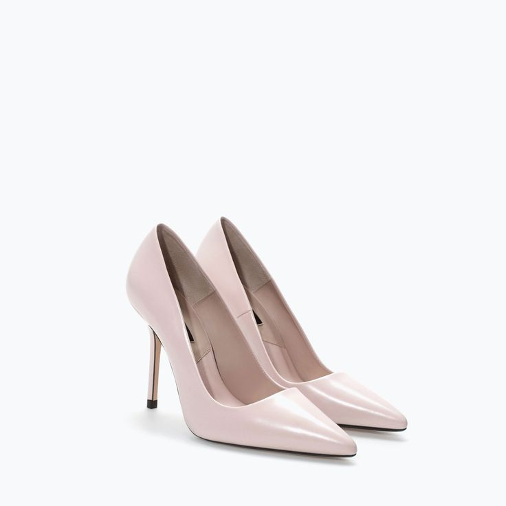 ZARA - SHOES & BAGS - LEATHER COURT SHOE Wardrobe with: full pleated midi skirt, pencil skirt, fitted ankle pants, denim Color match: wine, gray, denim, black, navy, silver, gold
