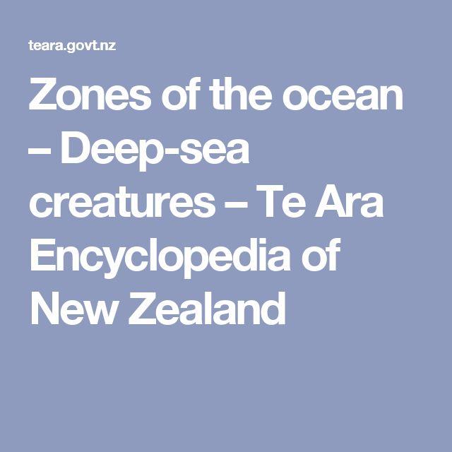 Zones of the ocean – Deep-sea creatures – Te Ara Encyclopedia of New Zealand