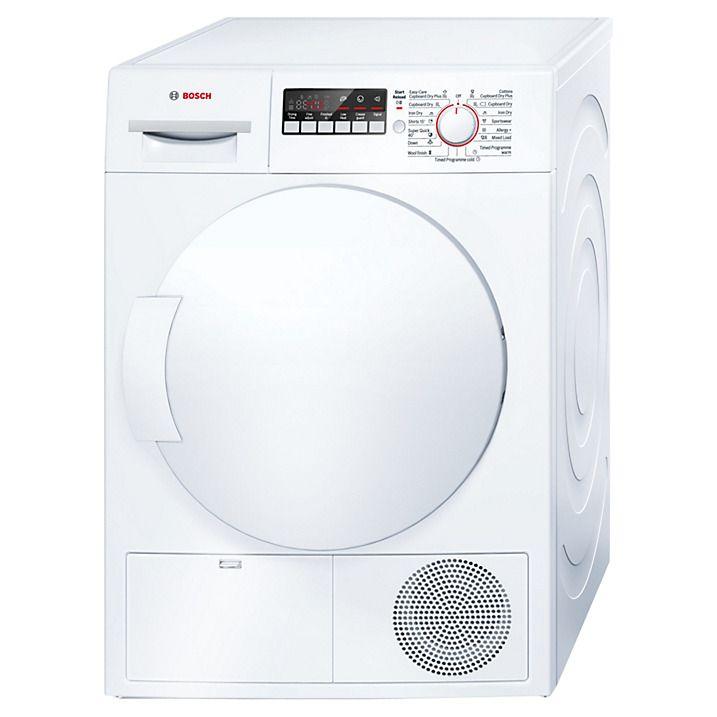 Buy Bosch WTB84200GB Sensor Condenser Tumble Dryer, 8kg Load, B Energy Rating, White Online at johnlewis.com