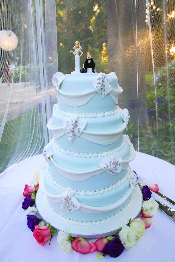 sedap-sedap belaka: baby blue and pink wedding cake |Pink And Blue Wedding Cakes