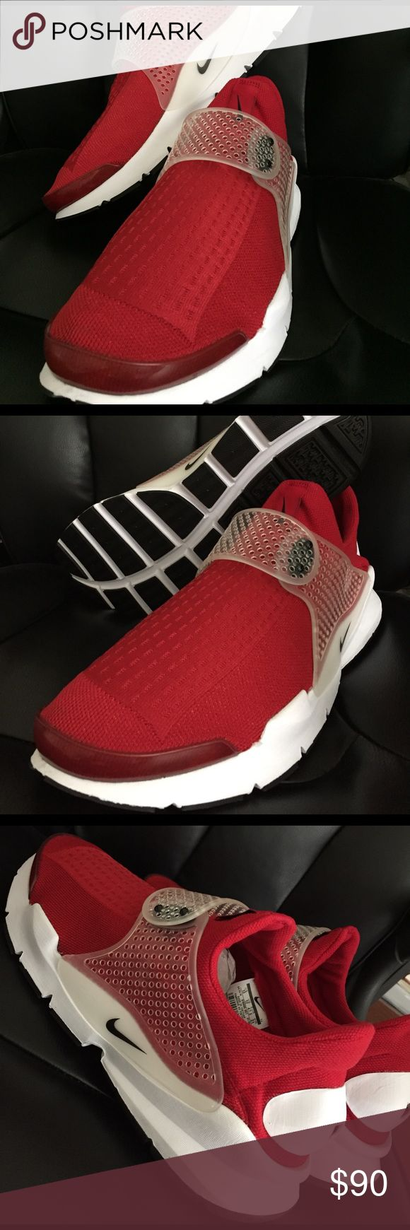 Nike Sock Dart Brand new men's Nike Sock Dart, red color size 13, no trades no low balling. MSRP$ 130. Nike Shoes Athletic Shoes