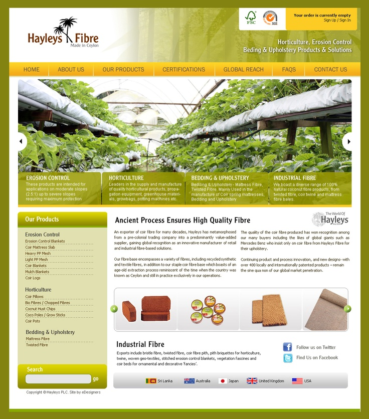 Hayleys Fibre Products - Portal done by eDesigners !