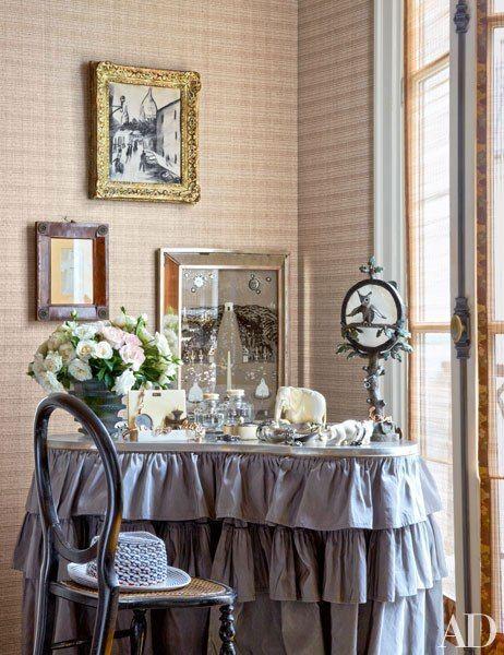 Decorative-arts dealers Laurence and Patrick Seguin's home in Paris's Marais district
