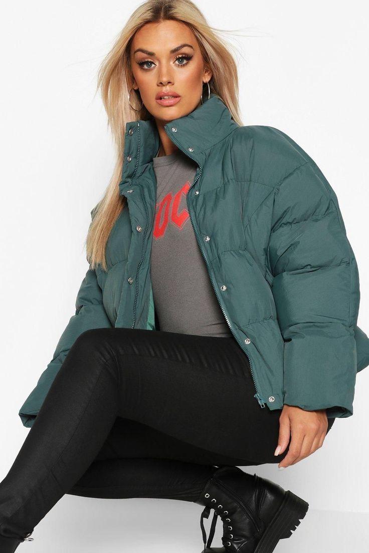 Custom Design Womens Cropped Puffer Jacket - Easy